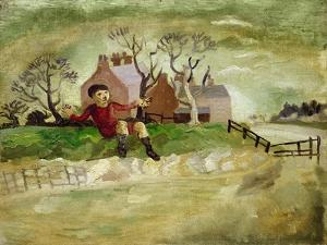 The Jumping Boy, Arundel, West Sussex, 1929 by Christopher Wood