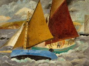 Yacht Race at Portscato, Cornwall, 1928 by Christopher Wood