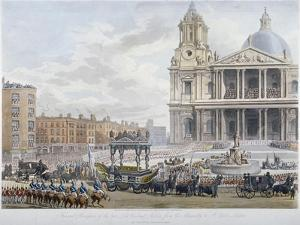 Funeral Procession of Lord Nelson Outside St Paul's Cathedral, City of London, 1806 by Christopher Wren