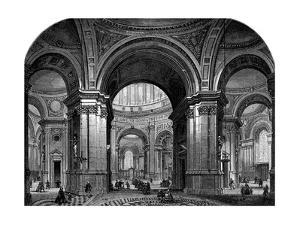 Interior of St Paul's Cathedral, London, Second Design, 17th Century by Christopher Wren