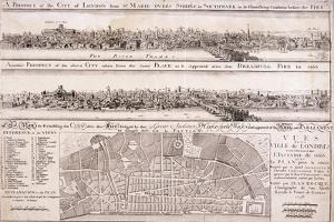 Map of London by Christopher Wren