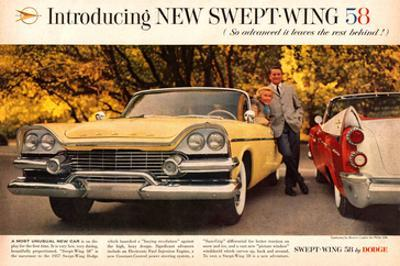 Chrysler Dodge `58 Swept Wing