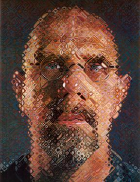 Self-Portrait, 2000-2001 by Chuck Close