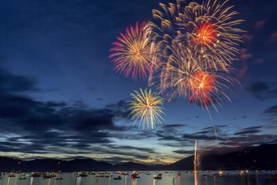 4th of July Fireworks over Whitefish Lake in Whitefish, Montana by Chuck Haney