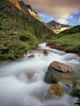 Baring Creek with Going to the Sun Mountain in Glacier National Park, Montana, USA by Chuck Haney