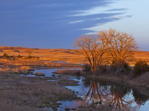 Bathed in Sunset Light the Calamus River in Loup County, Nebraska, USA by Chuck Haney