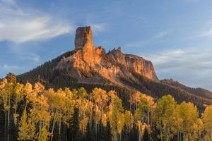 Chimney Rock and Courthouse Mountain , the Uncompahgre National Forest, Colorado by Chuck Haney