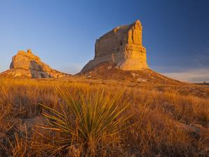 Courthouse and Jailhouse Rock Near Bridgeport, Nebraska, USA by Chuck Haney