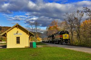 Cuyahoga Valley Scenic Railroad in Autumn in Cuyahoga National Park, Ohio, USA by Chuck Haney