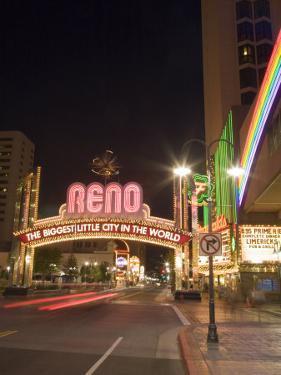 Downtown, Reno, Nevada by Chuck Haney