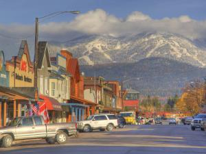 Downtown Whitefish, Montana, USA by Chuck Haney