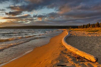 Dramatic sunset at Sand Point, Pictured Rocks National Lakeshore, Michigan, USA by Chuck Haney