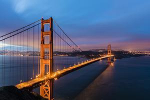 Early Morning Traffic on the Golden Gate Bridge in San Francisco, California, Usa by Chuck Haney