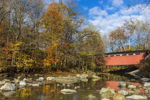 Everett Road Covered Bridge on Furnace Run Cree, Cuyahoga National Park, Ohio by Chuck Haney