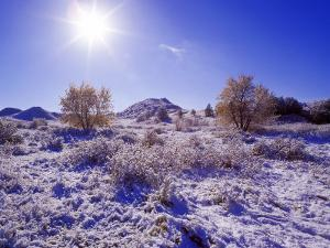 Fresh Snowfall in the Badlands of Theodore Roosevelt National Park, North Dakota, USA by Chuck Haney