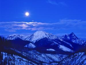 Full Moonrise over the Cloudcroft Peaks in Glacier National Park, Montana, USA by Chuck Haney
