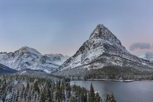 Grinnell Point and Mount Gould over Swift current Lake, Glacier National Park, Montana, USA by Chuck Haney