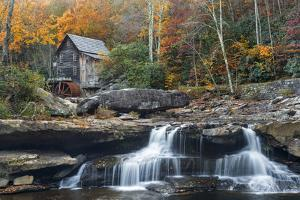 Grist Mill on GladeCreek at Babcock State Park, West Virginia, USA by Chuck Haney