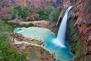 Havasu Waterfall on the Havasupai Reservation in Arizona, USA by Chuck Haney