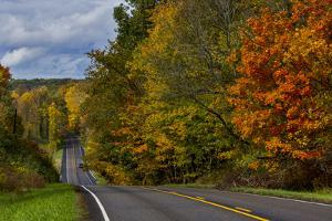 Hills on Highway 46 in Autumn West of Spencer, Indiana, USA by Chuck Haney