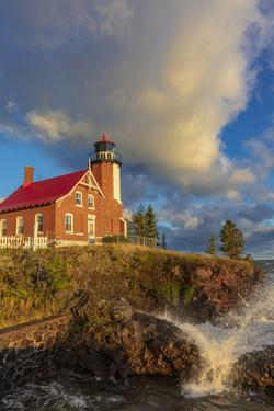 Historic Eagle Harbor Lighthouse n the Upper Peninsula of Michigan, USA by Chuck Haney