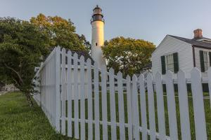 Historic lighthouse in Key West, Florida, USA by Chuck Haney