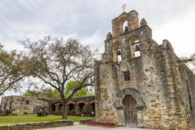 Historic Mission Espada in San Antonio, Texas, Usa
