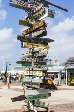 Iconic Street Sign in Key West Florida, USA by Chuck Haney