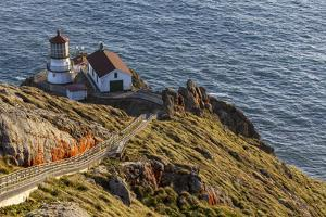 Lighthouse at Point Reyes National Seashore. California, USA by Chuck Haney