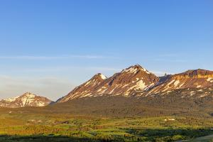 Little Dog and Summit Mountains at Marias Pass in Glacier National Park, Montana, USA by Chuck Haney