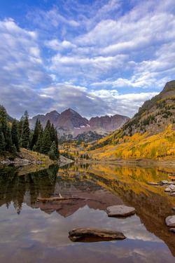 Maroon Lake in the White River National Forest Near Aspen, Colorado, Usa by Chuck Haney