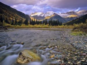 Mcdonald Creek and Garden Wall in Glacier National Park, Montana, USA by Chuck Haney