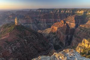 Mt Hayden from Imperial Point on the North Rim in Grand Canyon National Park, Arizona, USA by Chuck Haney