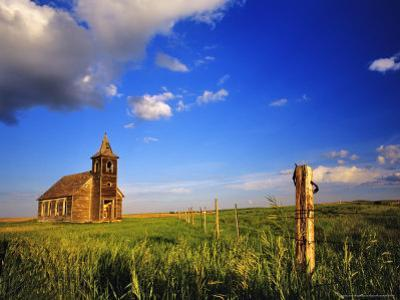 Old Church at Dooley Ghost Town Site, Montana, USA by Chuck Haney