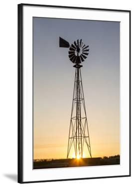 Old Windmill at Sunset Near New England, North Dakota, USA by Chuck Haney