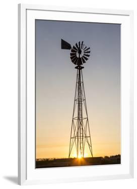 Old Windmill at Sunset Near New England, North Dakota, USA by Chuck Haney