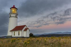 Oregons Oldest Lighthouse at Cape Blanco State Park, Oregon USA by Chuck Haney