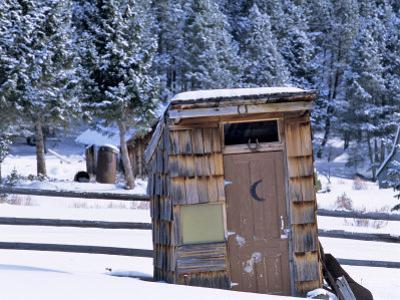 Outhouse at Elkhorn Ghost Town, Montana, USA
