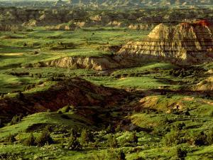 Painted Canyon in Theodore Roosevelt National Park, North Dakota, USA by Chuck Haney