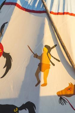 Painted Tipi at North American Indian Days in Browning, Montana, USA by Chuck Haney