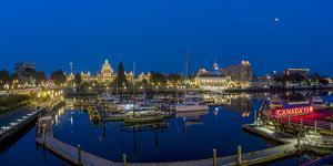 Panoramic of Inner harbor in Victoria, British Columbia, Canada by Chuck Haney