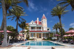 Pool at Southernmost House Inn in Key West Florida, USA by Chuck Haney