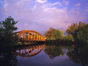 Rainbow Bridge Over Sheyenne River, Valley City, North Dakota, USA by Chuck Haney