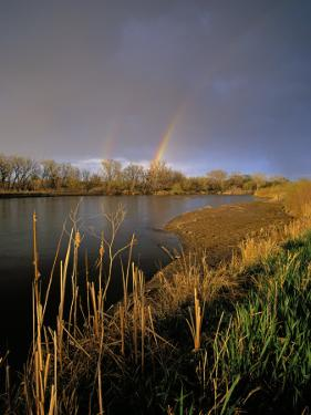 Rainbow over the North Platte River, Nebraska, USA by Chuck Haney