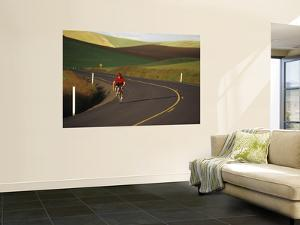 Road Bicycling in the Palouse Country Near Pullman, Washington, USA by Chuck Haney
