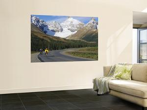 Road Bicycling on the Icefields Parkway, Banff National Park, Alberta, Canada by Chuck Haney