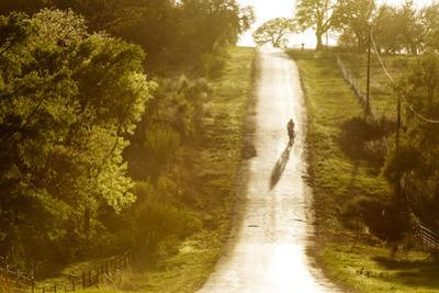Road Cycling in Texas Hill Country Near Fredericksburg, Texas, Usa