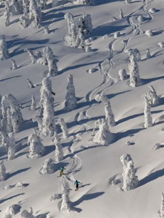 Skiing Through the Snowghosts at Whitefish Mountain Resort, Montana, USA