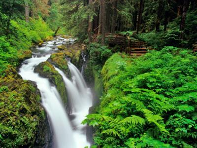 Sol Duc Falls in Olympic National Park, Washington, USA