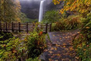 South Falls in Autumn at Silver Falls State Park, Silverton, Oregon by Chuck Haney
